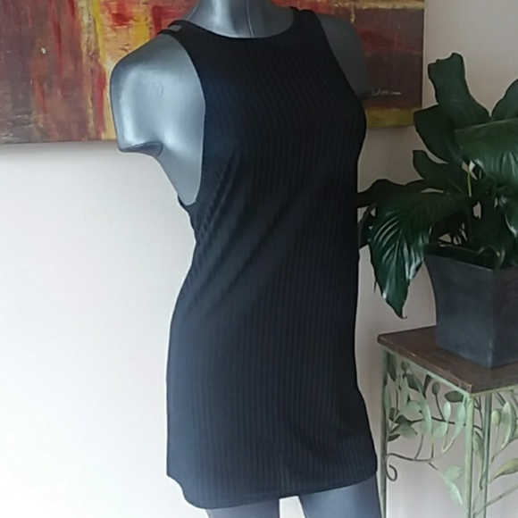 Missguided Dresses & Skirts - 4/$15 MISGUIDED LBD ribbed double strap high neck